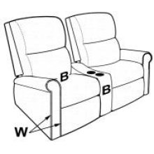 ARMLESS THEATER RECLINER
