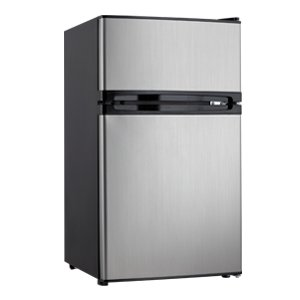 3.00 cu. ft. Dual Door Compact Fridge with Freezer -