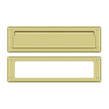 """Mail Slot 13 1/8"""" with Interior Frame - Polished Brass"""