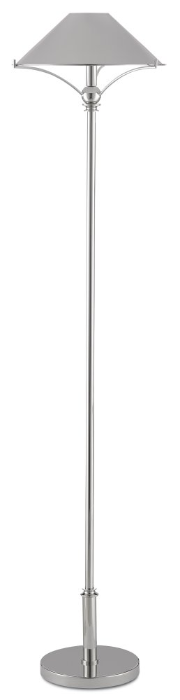 Maarla Nickel Floor Lamp
