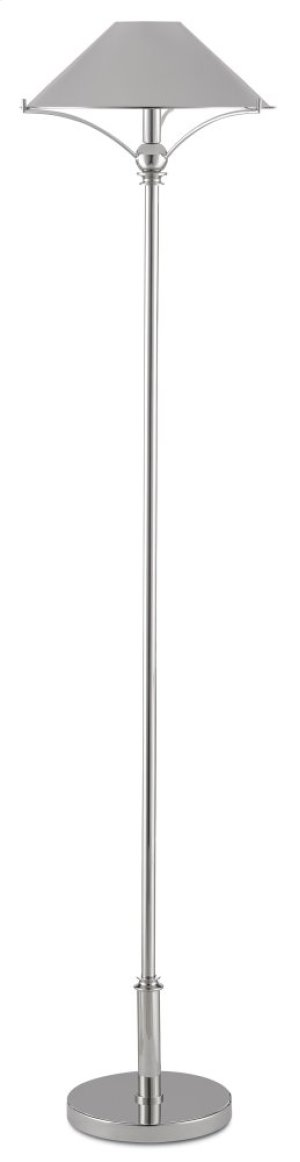 Maarla Nickel Floor Lamp