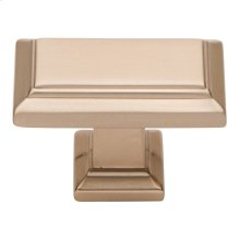 Sutton Place Rectangle Knob 1 7/16 Inch - Champagne