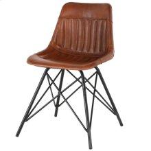 Garren Leather Chair, Ale Brown