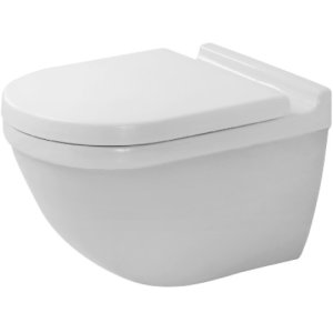 White Starck 3 Toilet Wall-mounted Duravit Rimless®