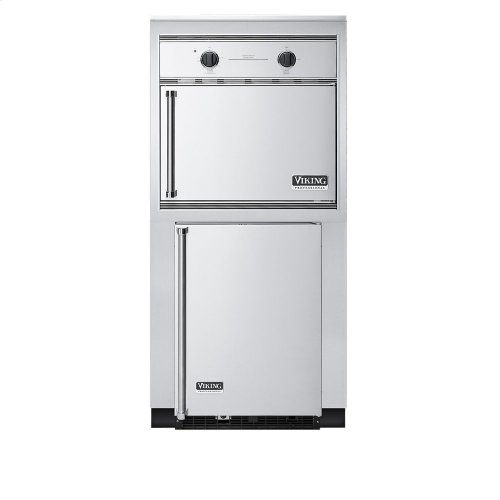 """32"""" W x 30"""" D Refrigeration and Smoker Oven Tower - VERO (32""""W. - Gas Oven Tower with Refrigeration Access)"""