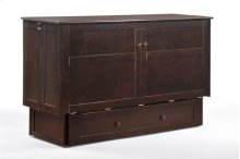 Murphy Cabinet Bed with Tri-Fold Queen Mattress and USB Charging Ports *Chocolate Finish*