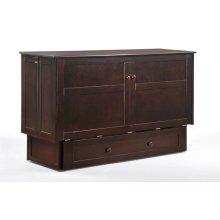 Clover Murphy Cabinet Bed in Dark Chocolate Finish