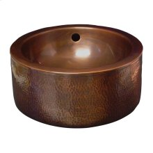 Colbran Copper Double-Walled Basin - Hammered Pewter
