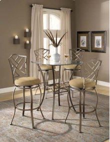 Brookside 5pc Bistro Set With Hanover Barstools