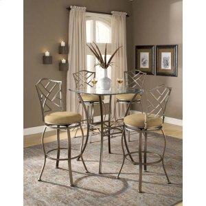 Hillsdale FurnitureBrookside 5pc Bistro Set With Hanover Barstools
