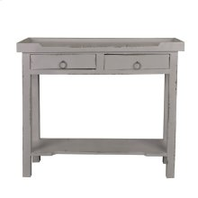CC-TAB2284LD-AG  Cottage Console Table  Distressed Antique Gray