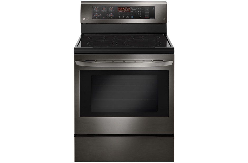 lg black stainless steel series 63 cu ft capacity electric single oven range with