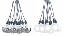Fifteen Tales pendant lamp  bulbs - half chrome