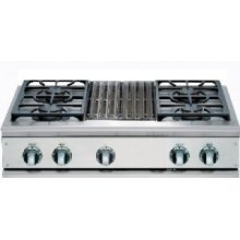 "36"" Cooktop, 4 Burner w/Grill"