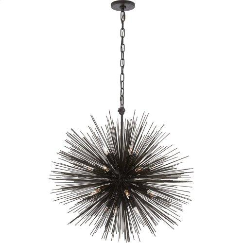 Visual Comfort KW5071AI Kelly Wearstler Strada 20 Light 28 inch Aged Iron Pendant Ceiling Light, Kelly Wearstler, Medium, Round