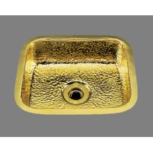 B0150 - Small Rectangular Bar Sink - Plain Pattern - Antique Brass