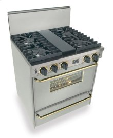 """30"""" All Gas, Convect, Sealed Burners, Stainless Steel with Brass"""
