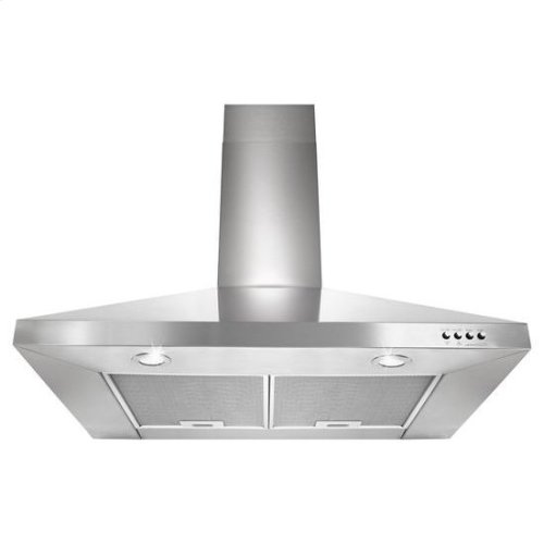 "30"" Contemporary Stainless Steel Wall Mount Range Hood - stainless steel"