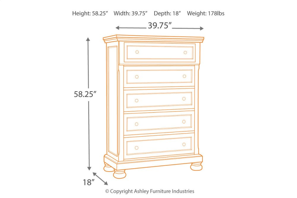 Additional Five Drawer Chest