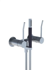 Two-handle build-in mixer with LONGlever, hand shower and holder with non-return valve 1670, 2 pcs - Grey