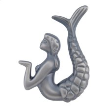 Mermaid Knob Right 2 1/2 Inch - Pewter