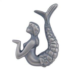 Mermaid Knob Right 2 1/2 Inch - Pewter