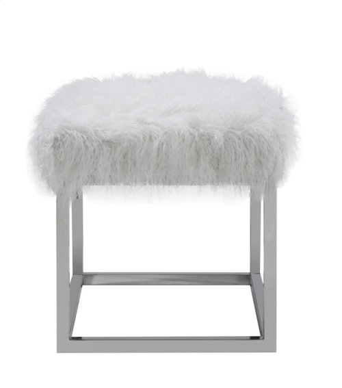 """Emerald Home Diva 22"""" Bench W/ Stainless Steel Frame Ivory U3307-38-09"""