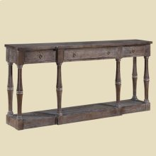 """Ivey"" Washed Oak Narrow Console"