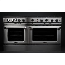 """60"""" Gas Self Clean w/ Rotisserie, 6 Open Burners, 24"""" Thermo-Griddle"""