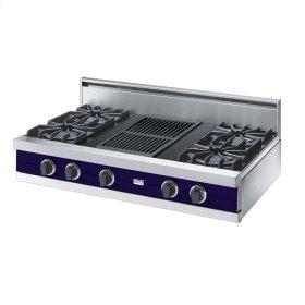 "Cobalt Blue 42"" Open Burner Rangetop - VGRT (42"" wide, four burners 12"" wide char-grill)"