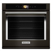 """KitchenAid® Smart Oven+ 30"""" Single Oven with Powered Attachments and PrintShield™ Finish - Black Stainless Product Image"""
