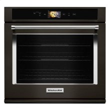 "KitchenAid® Smart Oven+ 30"" Single Oven with Powered Attachments and PrintShield™ Finish - Black Stainless"