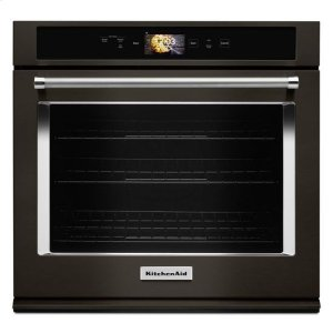 """KITCHENAIDKitchenAid(R) Smart Oven+ 30"""" Single Oven with Powered Attachments and PrintShield(TM) Finish - Black Stainless"""