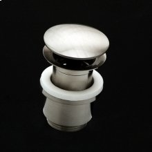 """Grid drain for European lavatories, with dome cover, no overflow holes. DIAM: 2 3/4"""""""