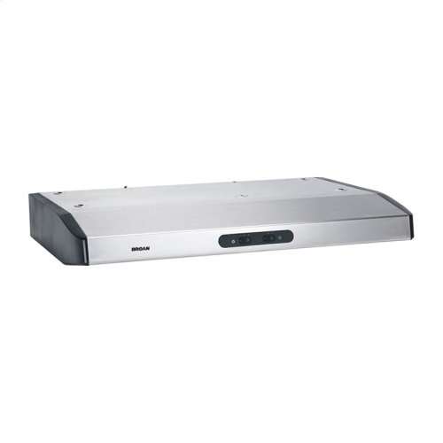 "Broan 290 CFM 30"" wide, ENERGY STAR® Certified Undercabinet Range Hood in Stainless Steel"