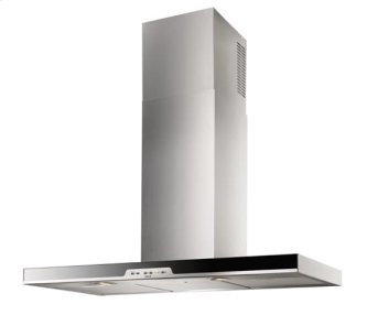 "Eclisse - 35-7/16"" Stainless Steel Chimney Range Hood for use with a choice of Exterior or In-line blowers"