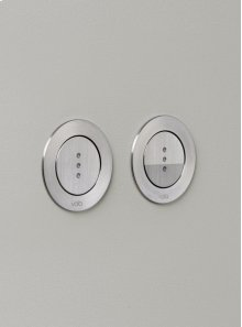 Electronic dual flow cistern flush - Grey