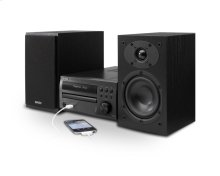 CD Receiver, Stereo speakers with built-in FM tuner, iPhone/iPod direct connectivity via front USB input