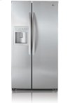 Side-By-Side Refrigerator with Ice and Water Dispenser (26.5 cu.ft.; Titanium)