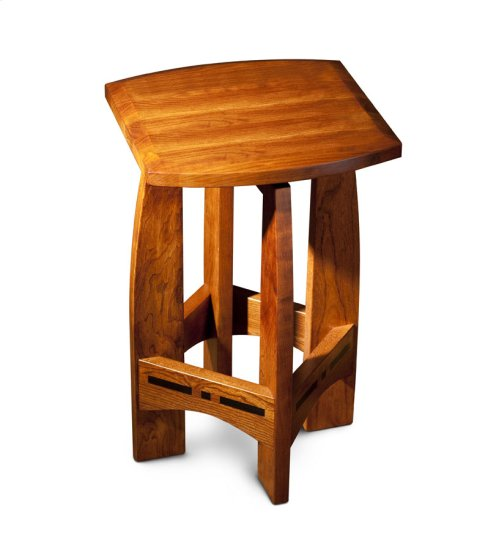 Aspen Swivel Barstool with Inlay, No Back, Aspen Swivel Barstool with Inlay, No Back, 24""
