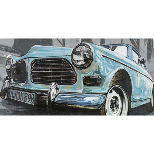 Classic Euro Car Blue Wall Décor