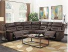 Aria RAF LS,SaddleBrown,Console ,2 Pwr-Pwr Recliners 75x44x42.5 Product Image