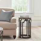 Estelle - Round Chairside Table - Washed Gray Finish Product Image