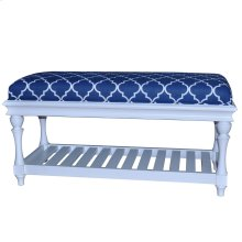 Atlantic Blue and White Accent Bench