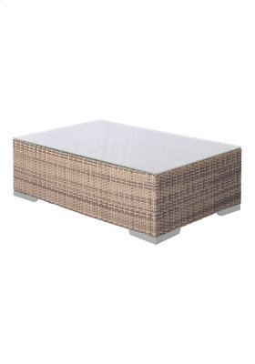 Arzo Woven Frosted Acrylic Coffee Table
