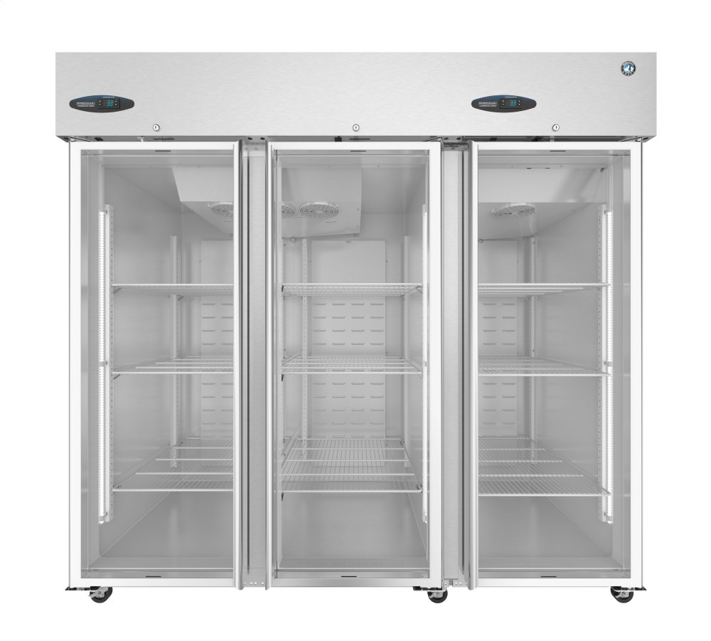 Cr3sfge Hoshizaki Refrigerator Three Section Upright Full Glass