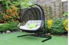 Renava San Juan Outdoor Black & Beige Hanging Chair Product Image