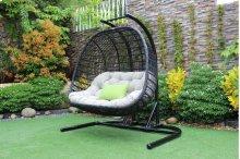 Renava San Juan Outdoor Black & Beige Hanging Chair