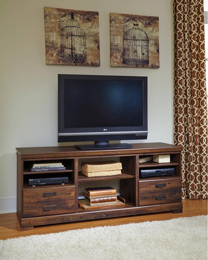 W246w2 In By Ashley Furniture In Saint Peters Mo Quinden Dark Brown 2 Piece Entertainment Set