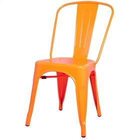 Metropolis Metal Side Chair, Orange